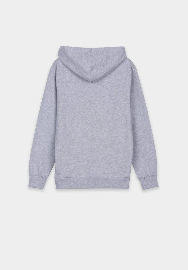 Hoodie cinza claro c/ logo para menino da Tiffosi