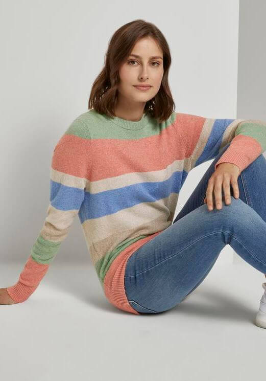 Camisola c/ ricas de cores para mulher da Tom Tailor