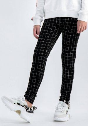 Leggings preta de xadrez para menina da Garcia Jeans