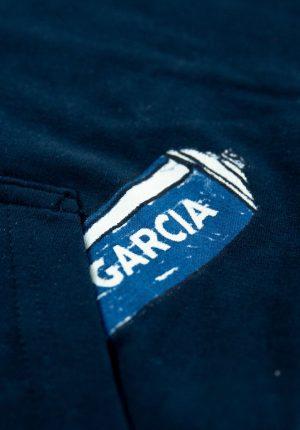 Hoodie azul marino para menino da Garcia