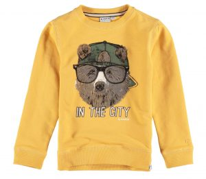 Sweat amarela c/ urso para menino da Garcia