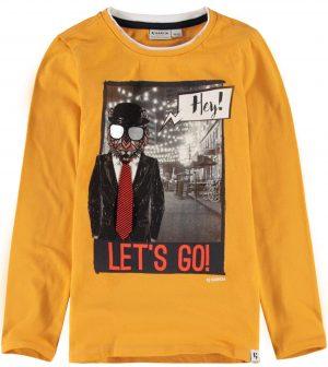 T-shirt amarela c/ gravata para boy da Garcia