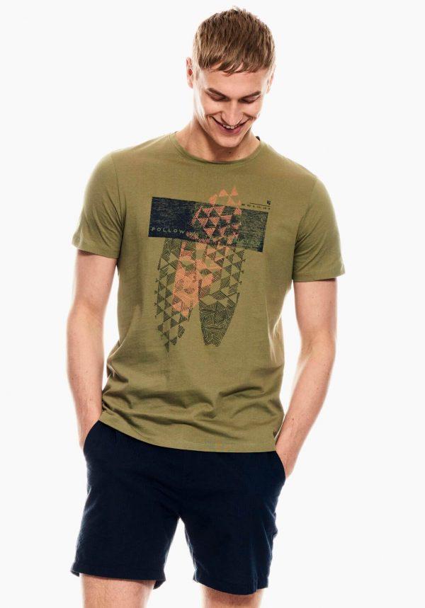 T-shirt verde kaki para homem da Garcia