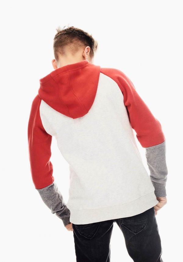 Hoodie vermelho/cinza para menino da Garcia Jeans