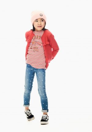T-shirt c/ risca vermelha para menina da Garcia Jeans