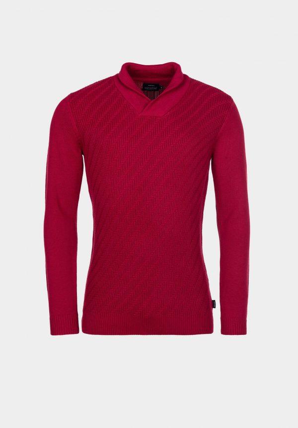 Camisola vermelha c/ malha espinhada para homem da Tiffosi