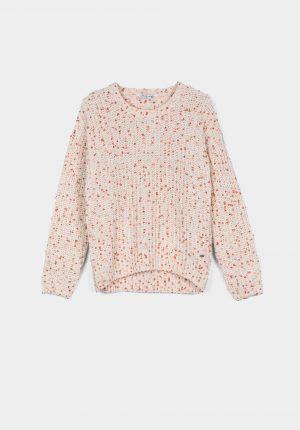 Camisola mescla de rosa para girl da Tiffosi